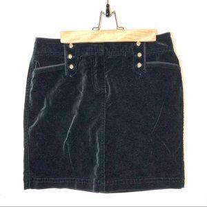 White House Black Market Velvet Skirt Size 6